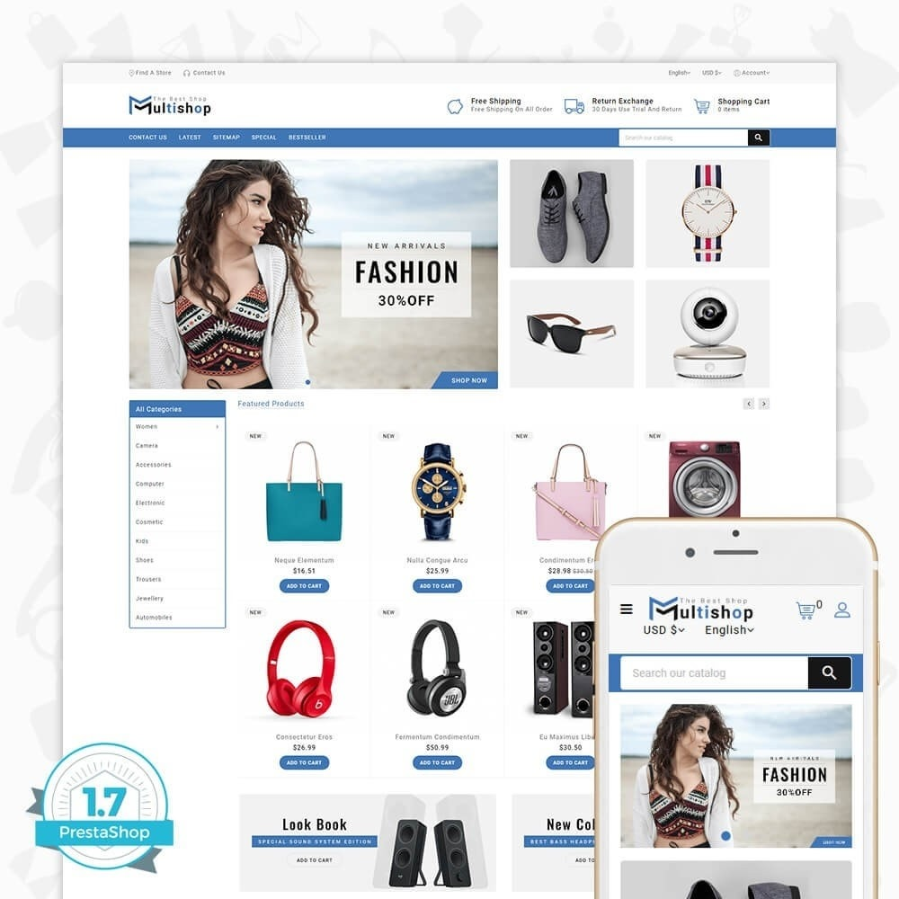 theme - Elektronika & High Tech - Multishop - The Best Shop - 1