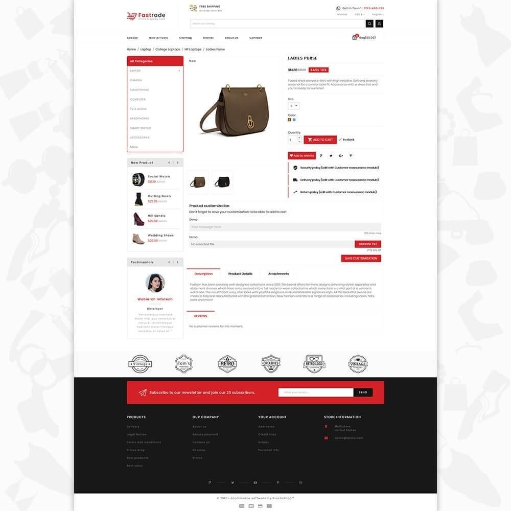 theme - Electronique & High Tech - Fastrade - Online Shopping Trade - 5