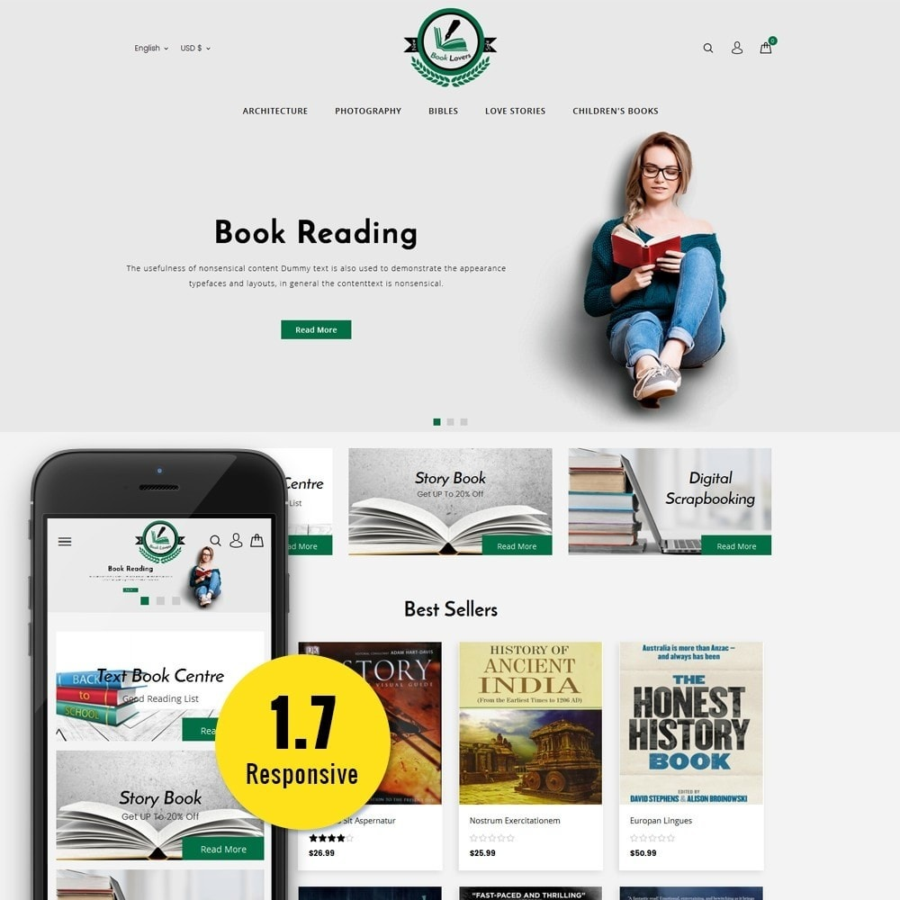theme - Art & Culture - BookLovers Store - 1