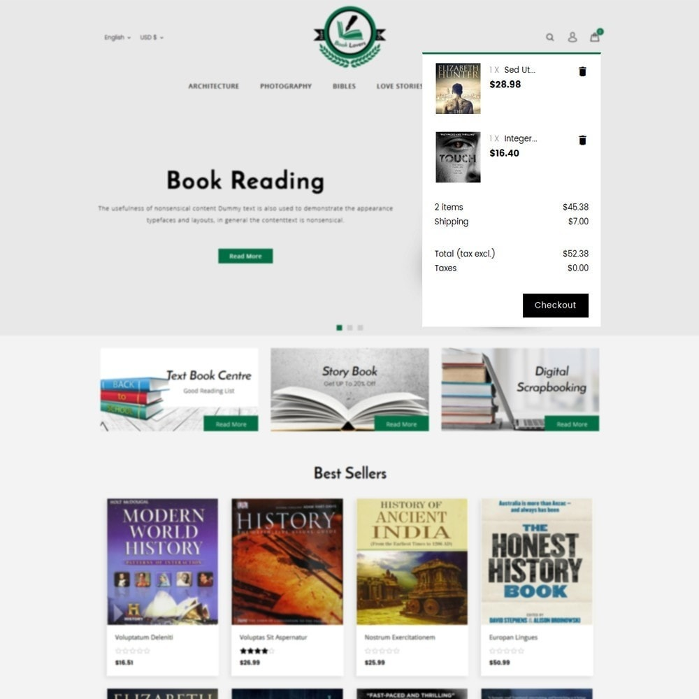 theme - Art & Culture - BookLovers Store - 8