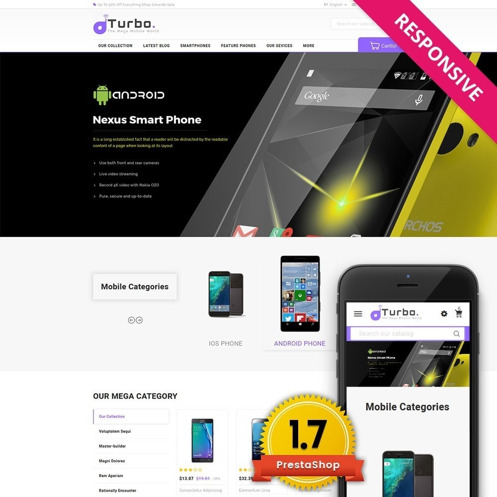 theme - Электроника и компьютеры - Turbo Mobile Store - 1