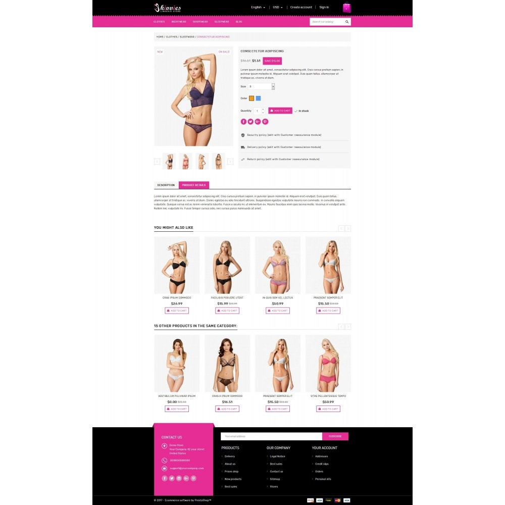 theme - Lingerie & Adulte - Skivvies - The Lingerie Store - 5