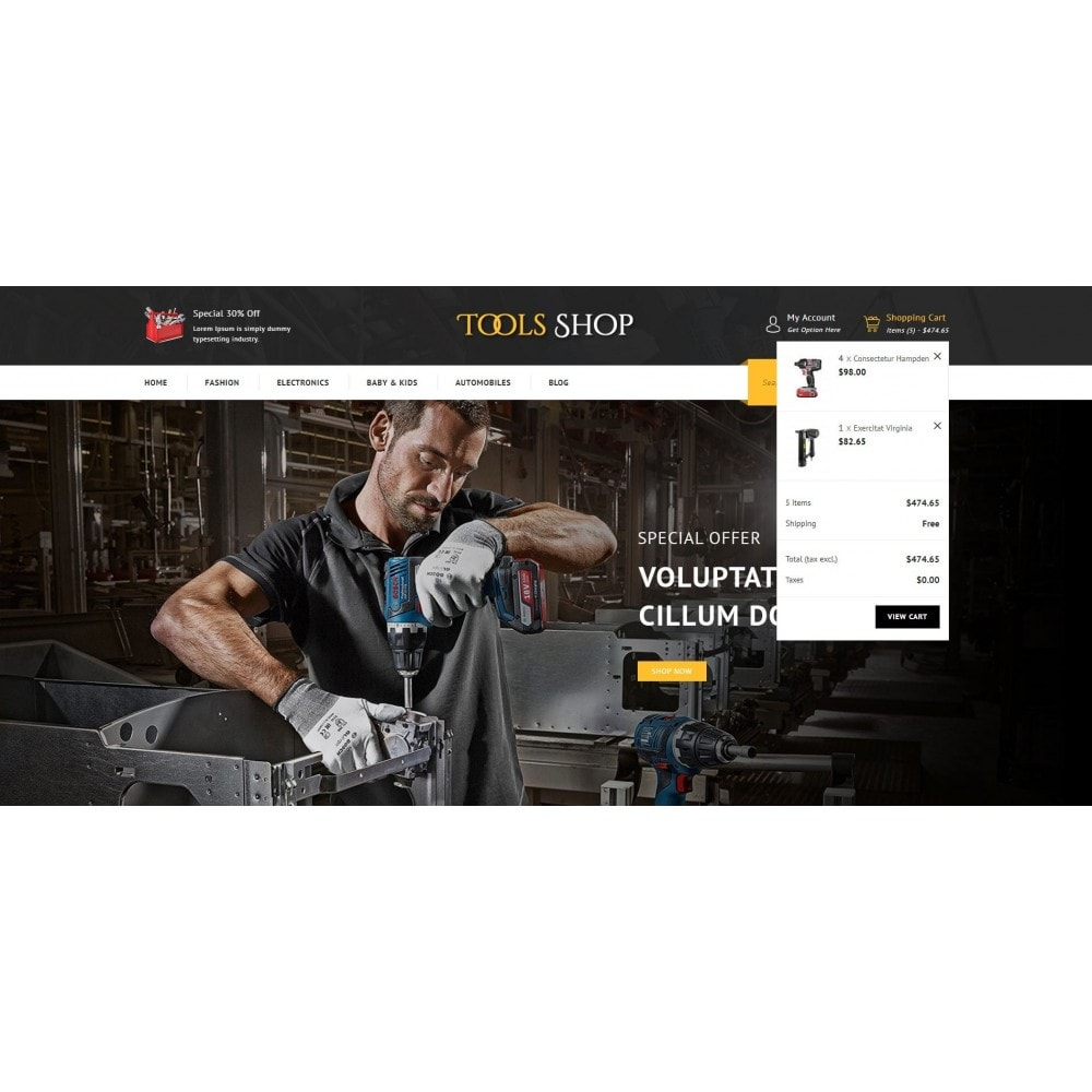 theme - Auto's & Motoren - Tools Shop - 8