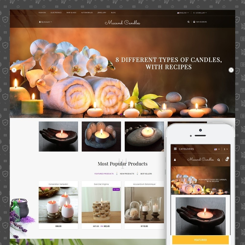 theme - Gifts, Flowers & Celebrations - Macand Candles Store - 1