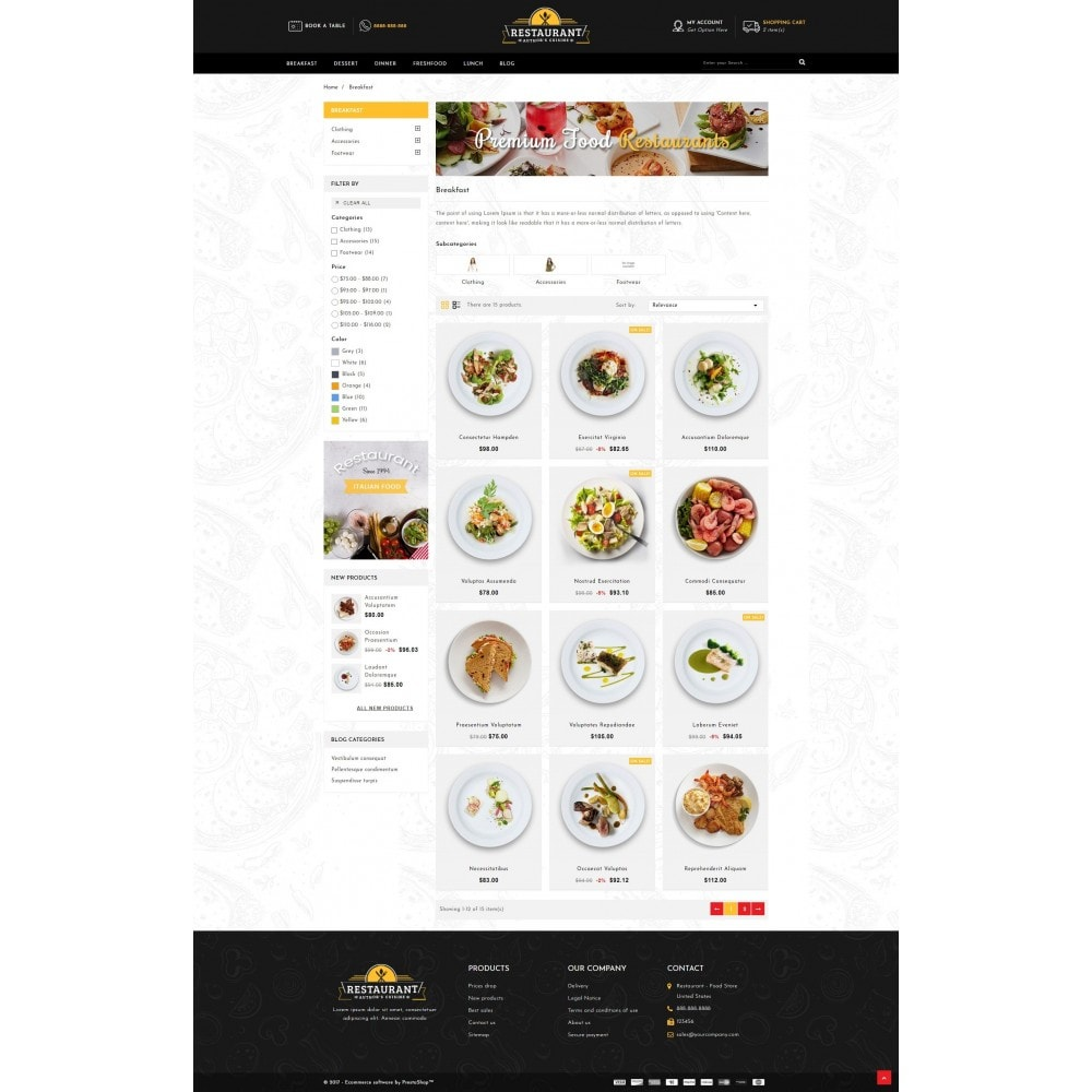 theme - Lebensmittel & Restaurants - Restaurant Food Store - 3