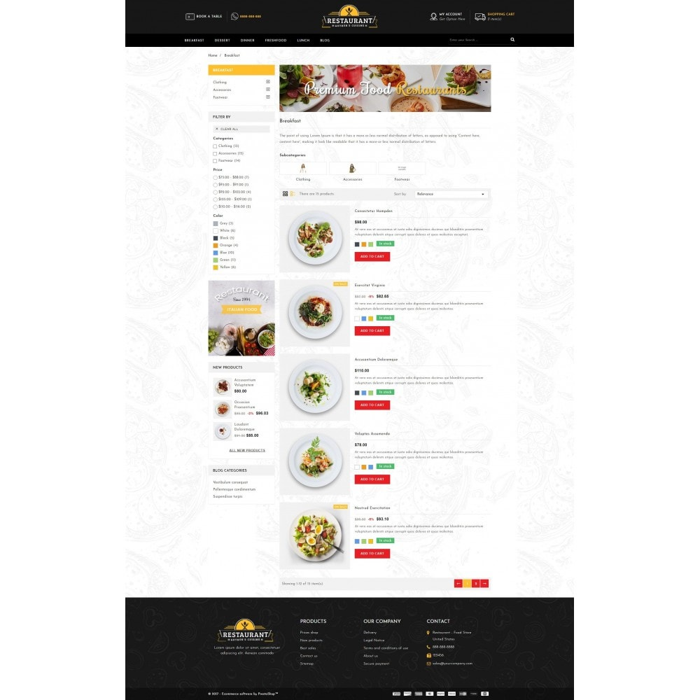 theme - Lebensmittel & Restaurants - Restaurant Food Store - 4