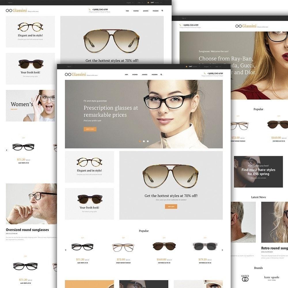 theme - Moda & Calzature - Glassini - per Un Sito di Occhiali da Vista - 3