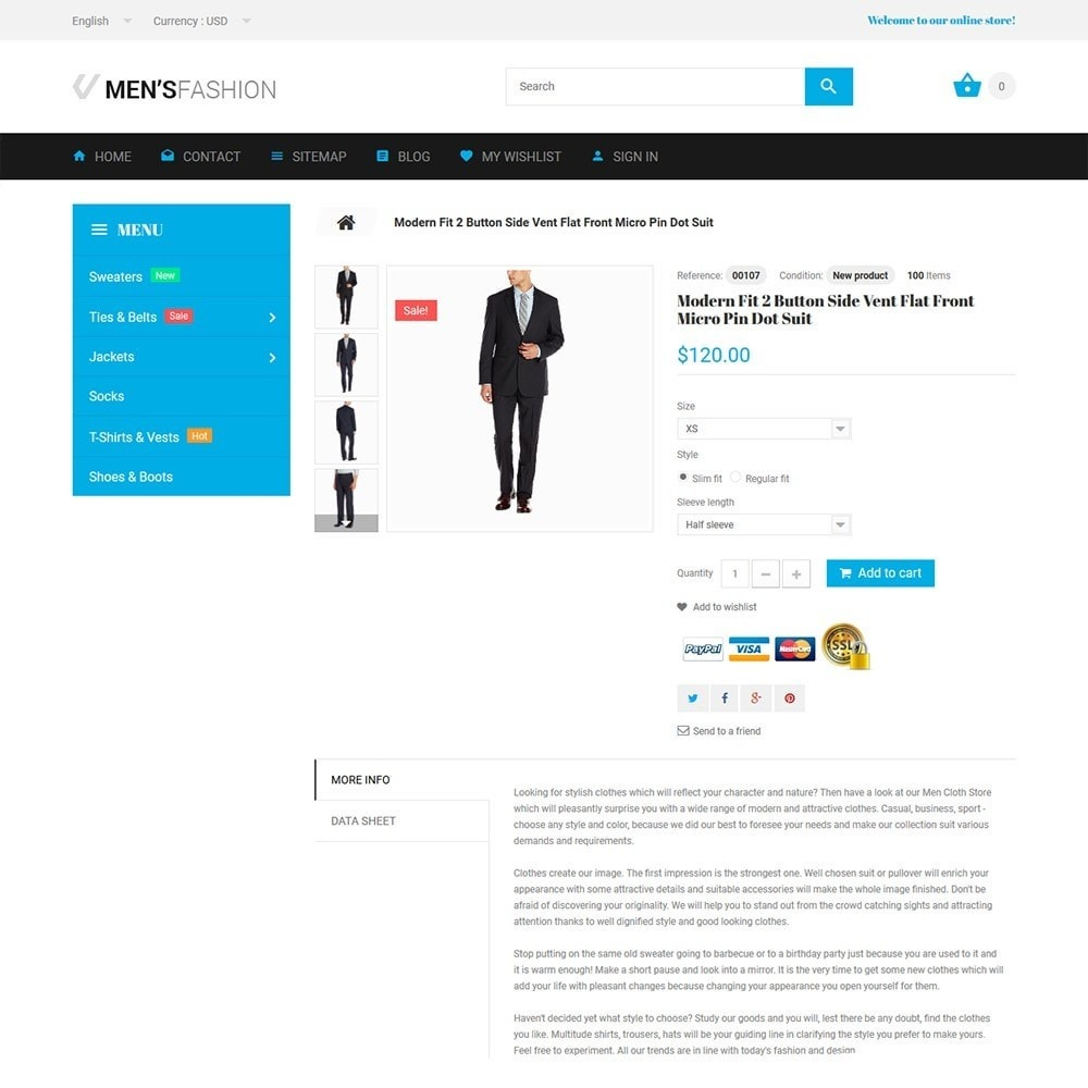 theme - Mode & Schoenen - Men's Fashion - Fashion Store Template - 3
