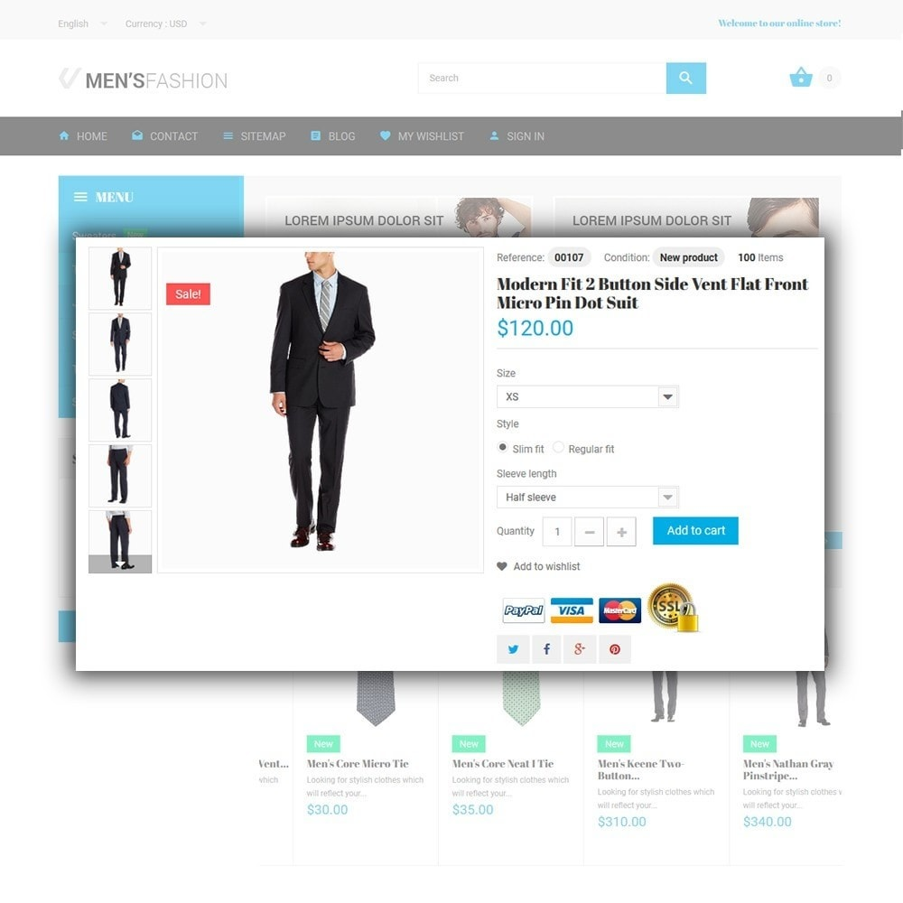 theme - Mode & Schoenen - Men's Fashion - Fashion Store Template - 4