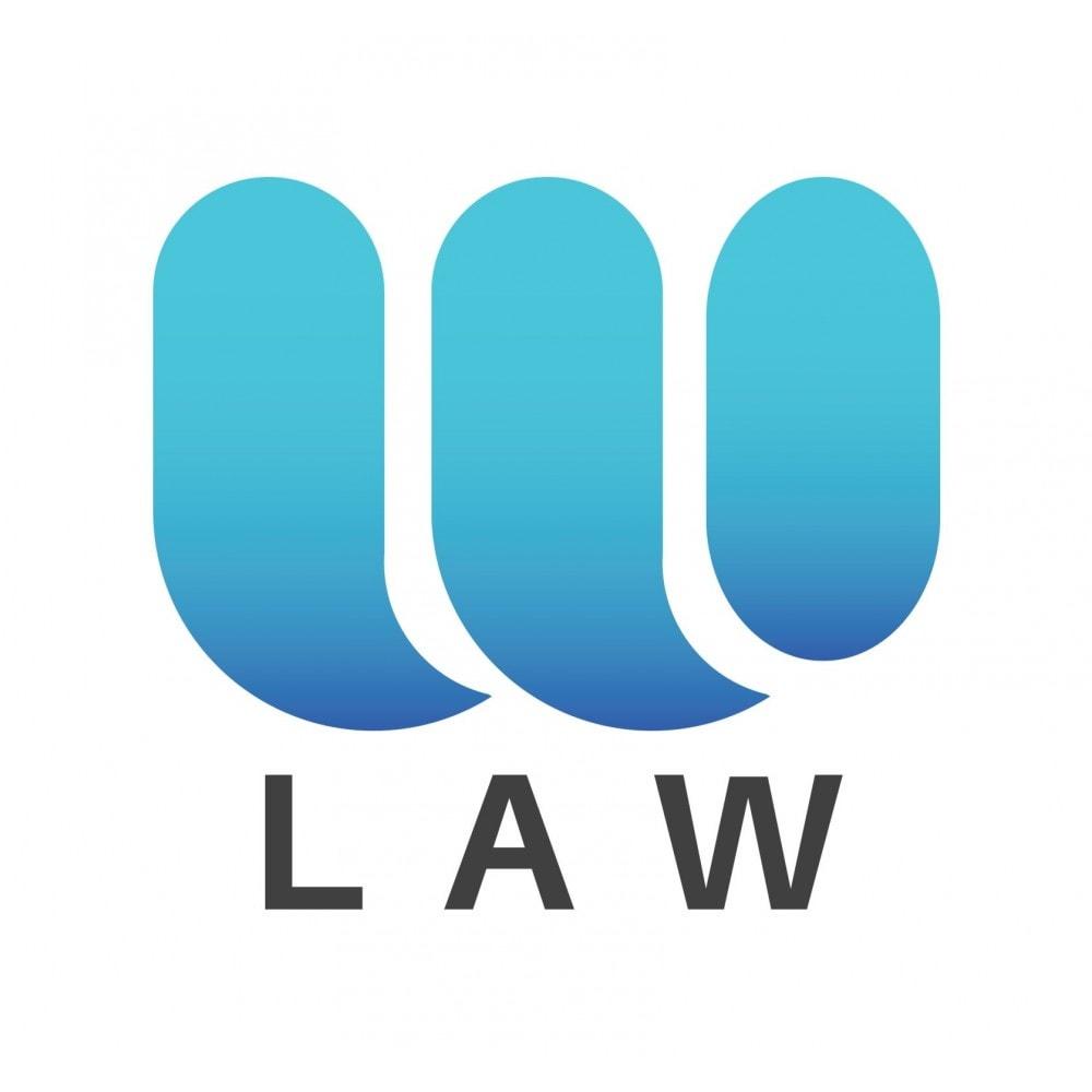 module - Marco Legal (Ley Europea) - Ley Europea de Cookies RGPD y LOPD popUp by Webubi - 1