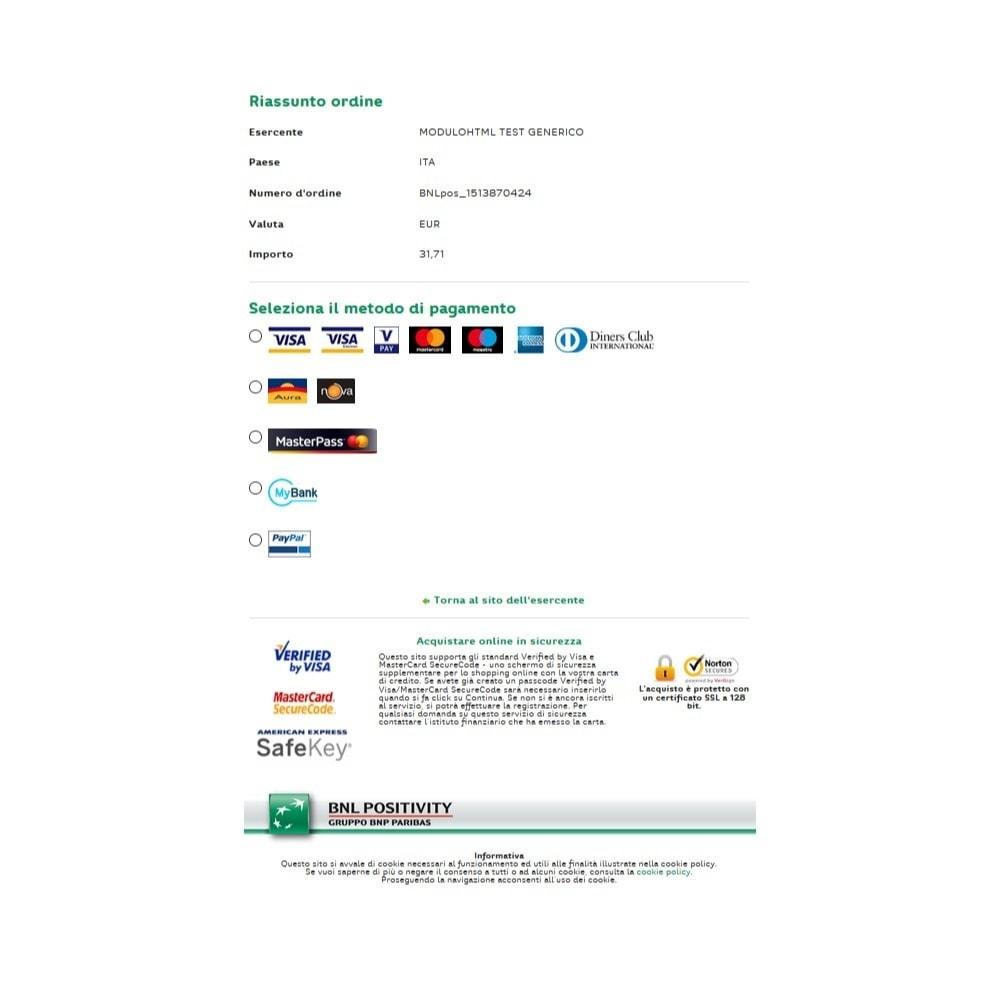 module - Pago con Tarjeta o Carteras digitales - BNL Positivity Payment - 6