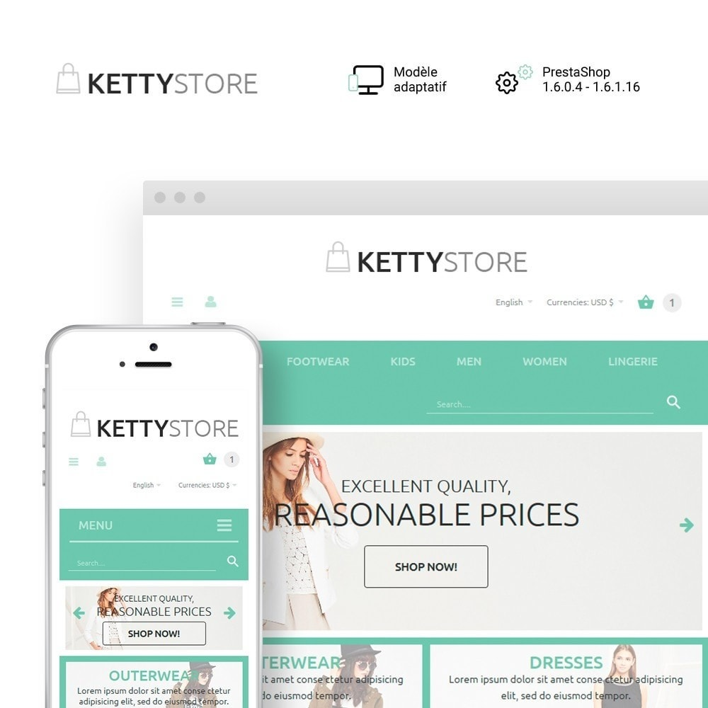 theme - Mode & Chaussures - KettyStore - 1
