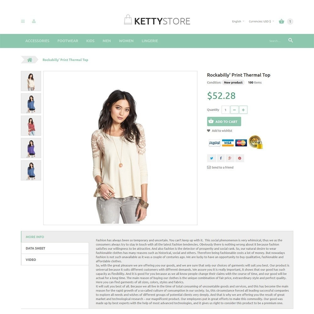 theme - Mode & Chaussures - KettyStore - 2