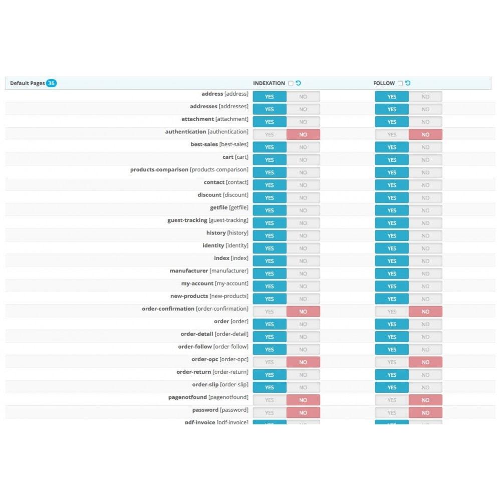 module - SEO (référencement naturel) - SEO NOindex,follow (handles Duplicate content) - 4