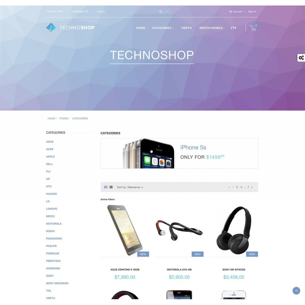 theme - Elettronica & High Tech - Techno Shop - Electronics & Computers - 2
