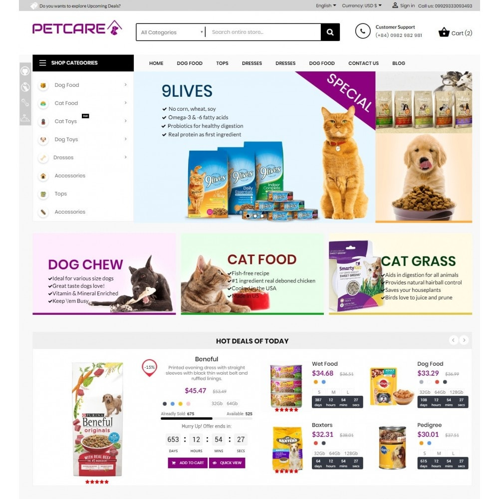 theme - Animales y Mascotas - Animals & Pets Care Store - 2