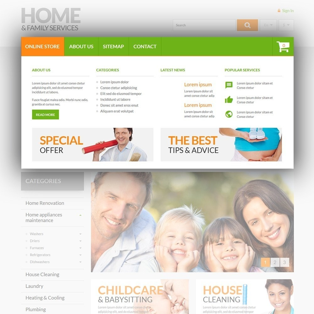 theme - Maison & Jardin - Home & Family Services - 5