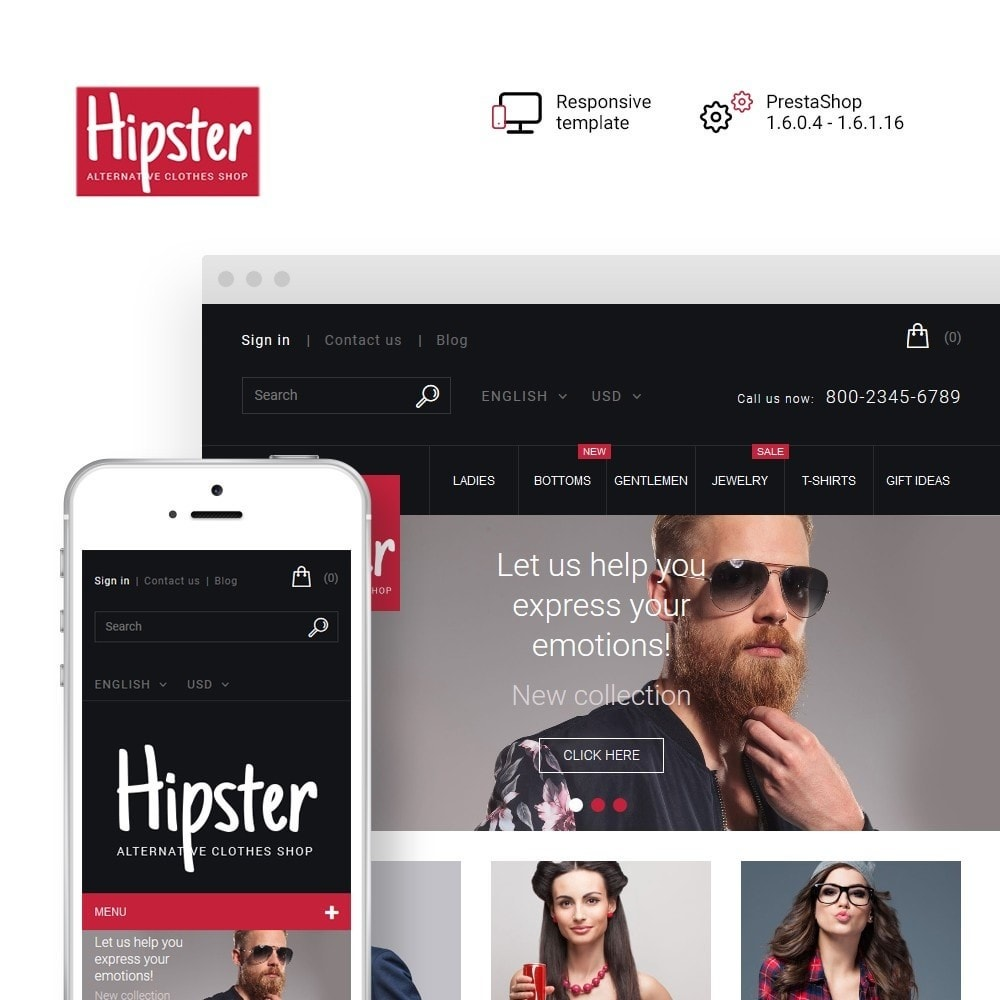 Hipster - Apparel Template