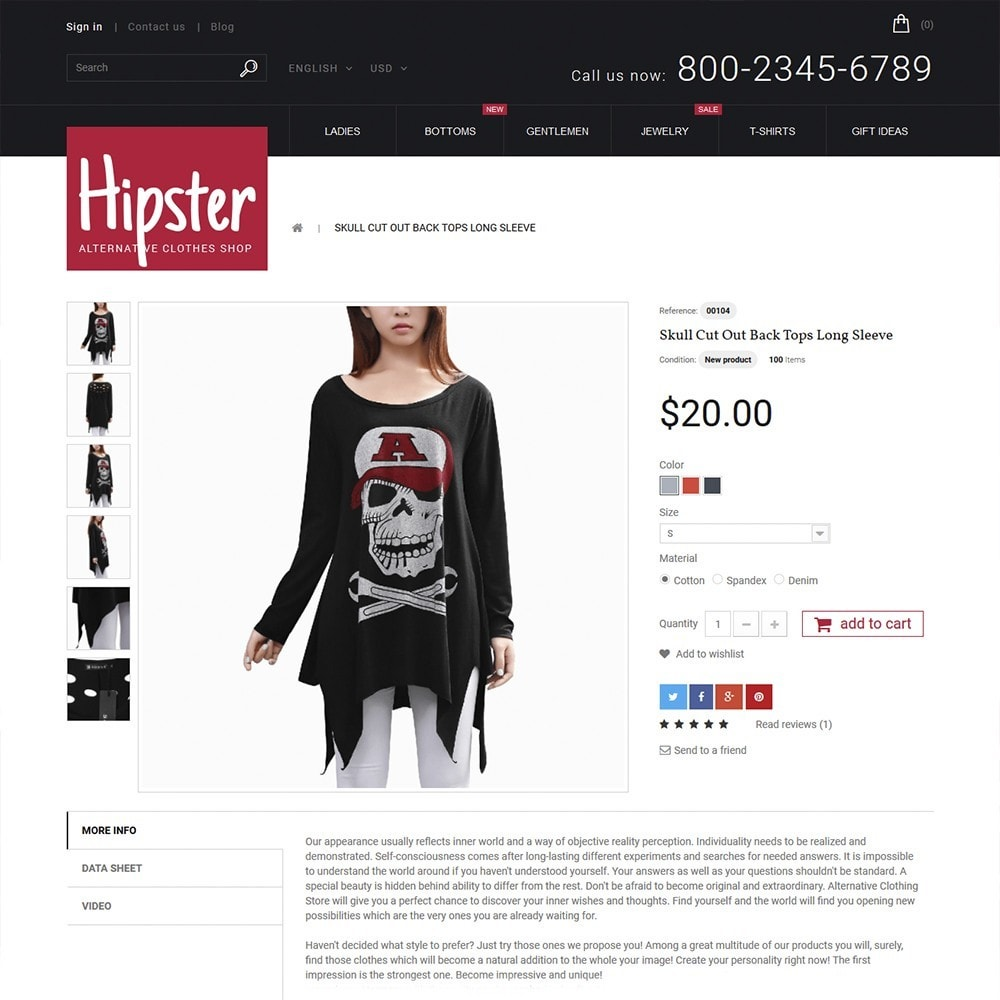 theme - Mode & Chaussures - Hipster - Apparel Template - 3