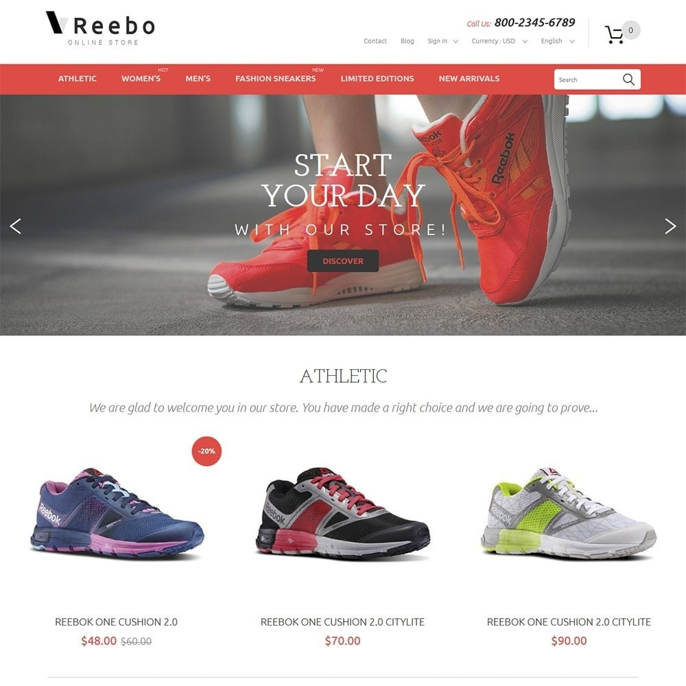 theme - Mode & Chaussures - Reebo - Shoe Store - 2