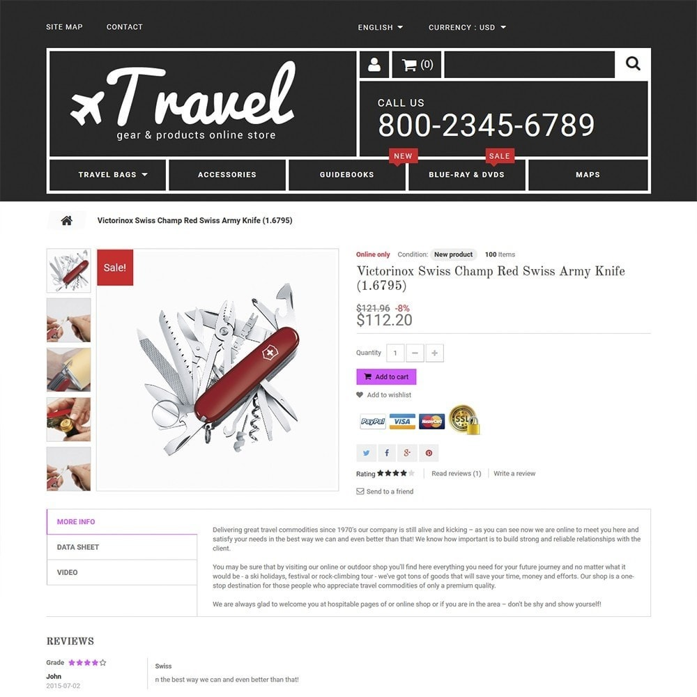 Travel - Gear & Product Online Store