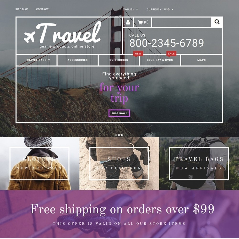 theme - Sport, Attività & Viaggi - Travel - Gear & Product Online Store - 2