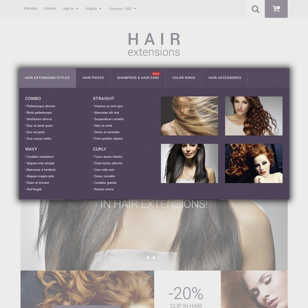 theme - Fashion & Shoes - Hair Extensions - 4