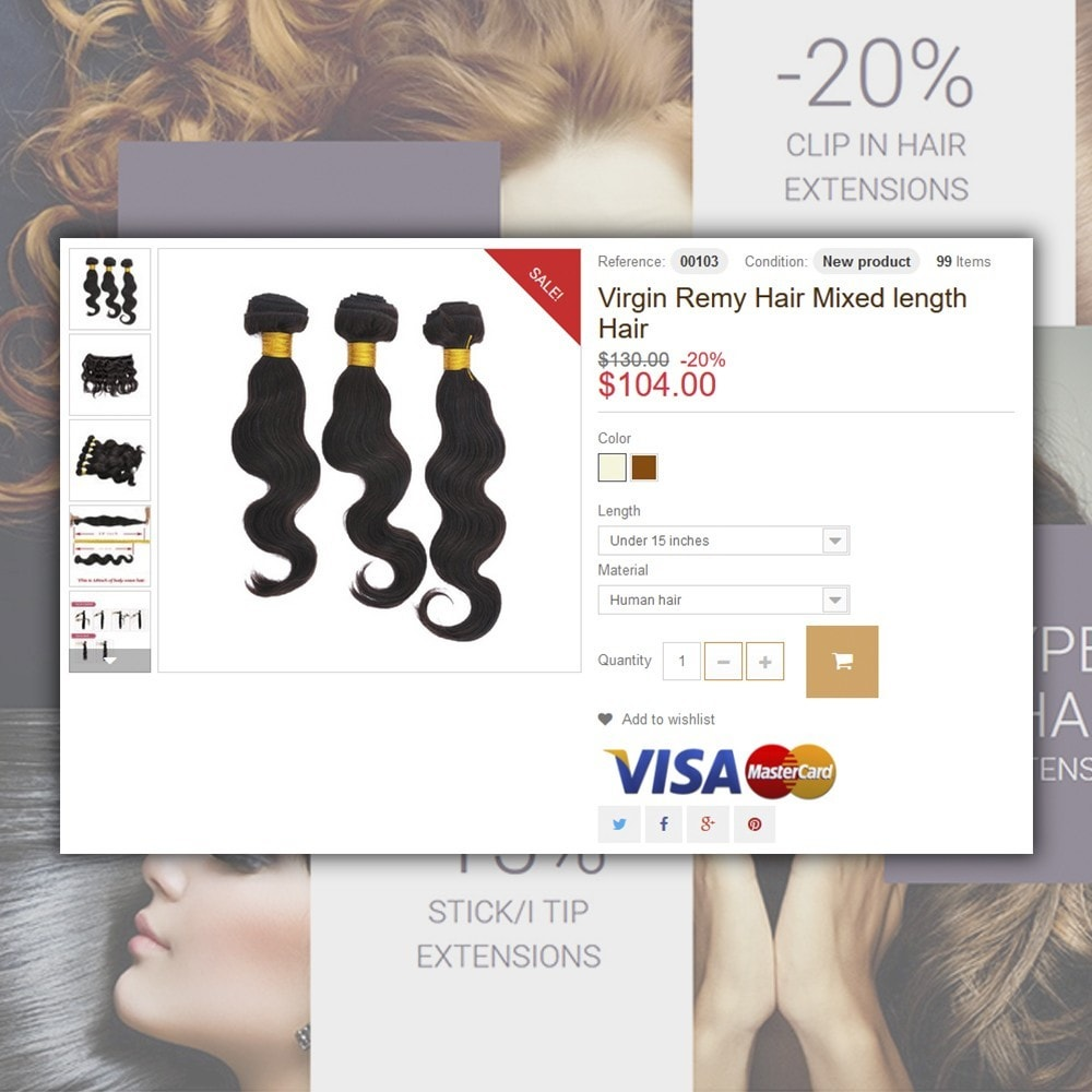 theme - Moda & Calçados - Hair Extensions - 5