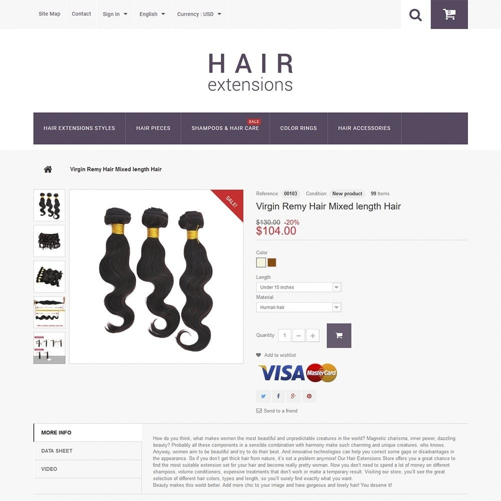 theme - Мода и обувь - Hair Extensions - 3