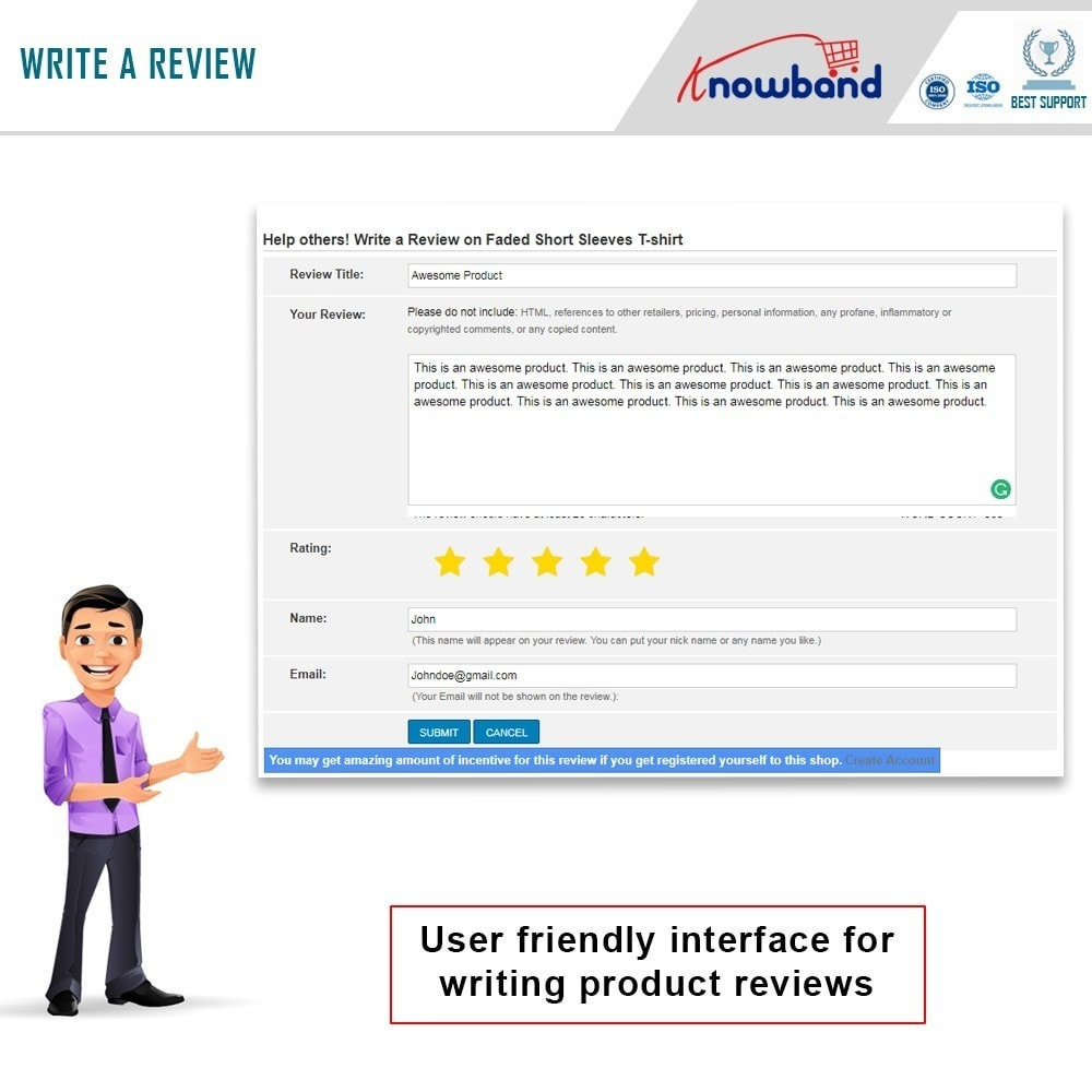 module - Opiniões de clientes - Knowband - Product Review Reminder and Incentives - 5