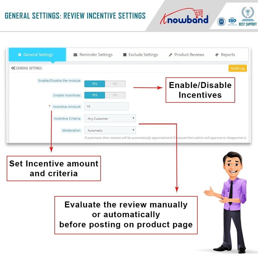 module - Customer Reviews - Knowband - Product Review Reminder and Incentives - 6