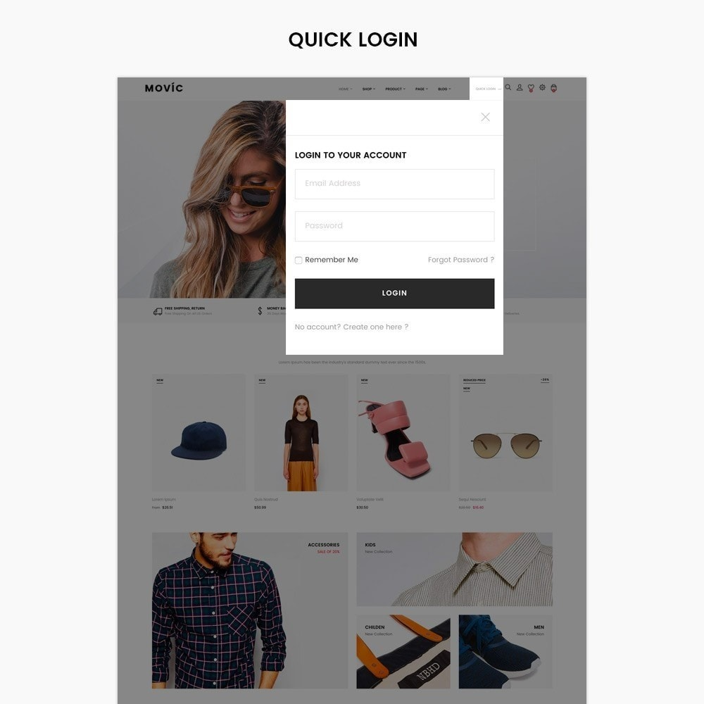 theme - Moda & Calzature - Movic Fashion Store - Prestashop 1.7 - 2