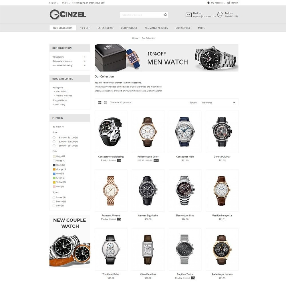 theme - Elektronika & High Tech - Cinzel Watch Store - 3