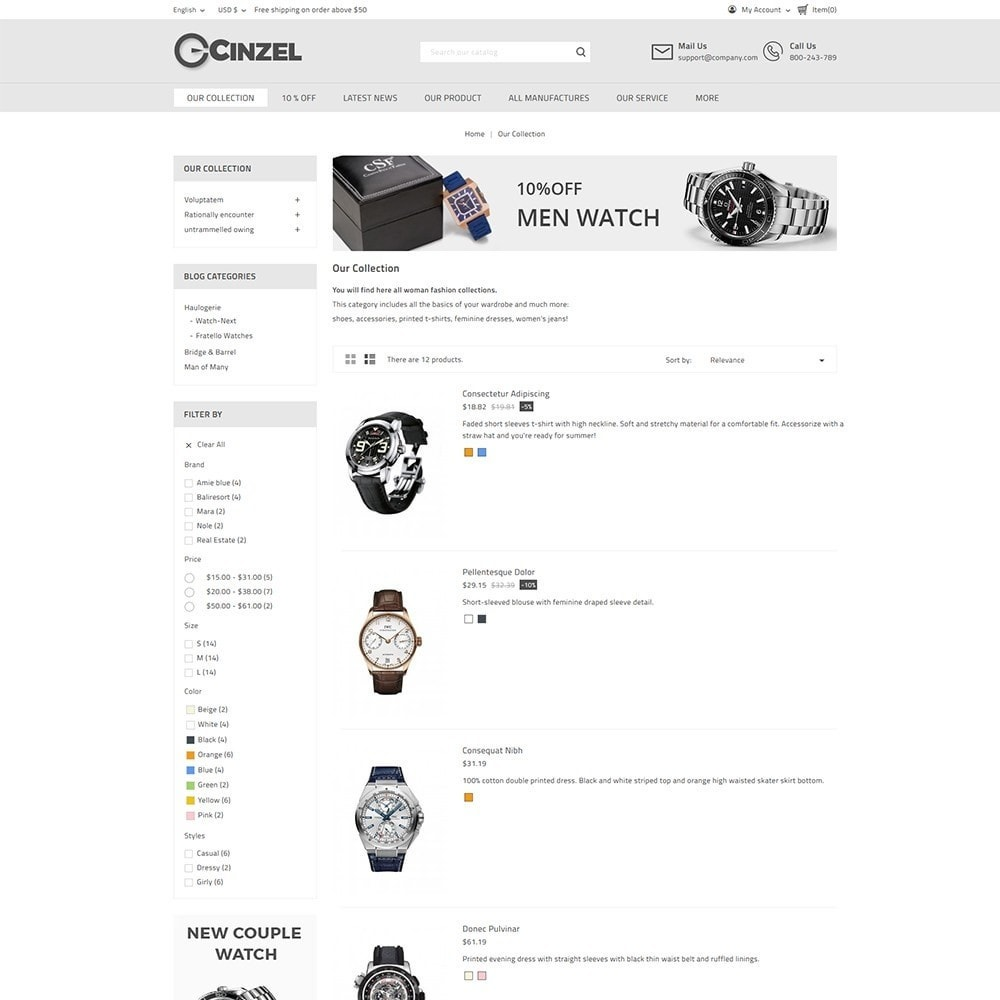 theme - Elektronika & High Tech - Cinzel Watch Store - 4