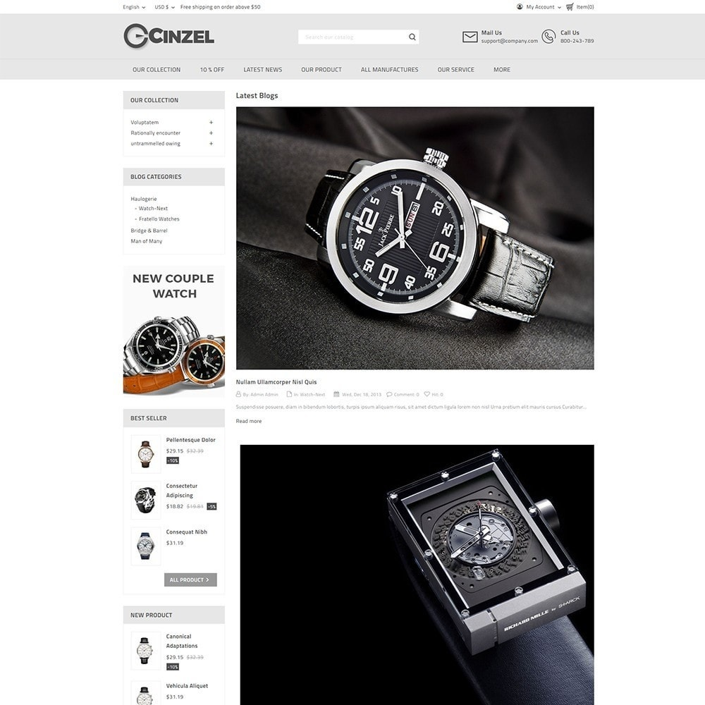 theme - Elektronika & High Tech - Cinzel Watch Store - 6