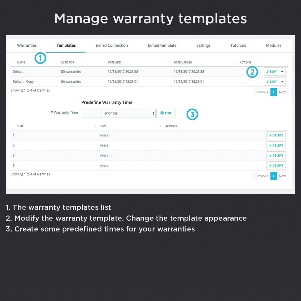 module - Order Management - Product Warranty Pro - 17