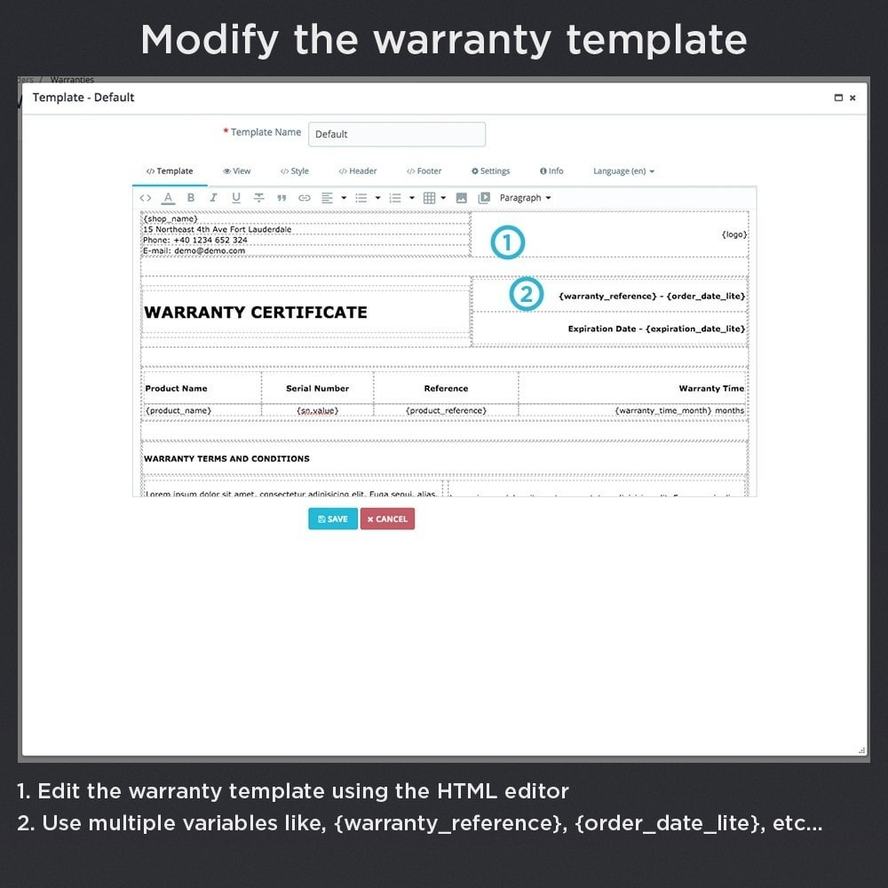 module - Order Management - Product Warranty Pro - 18