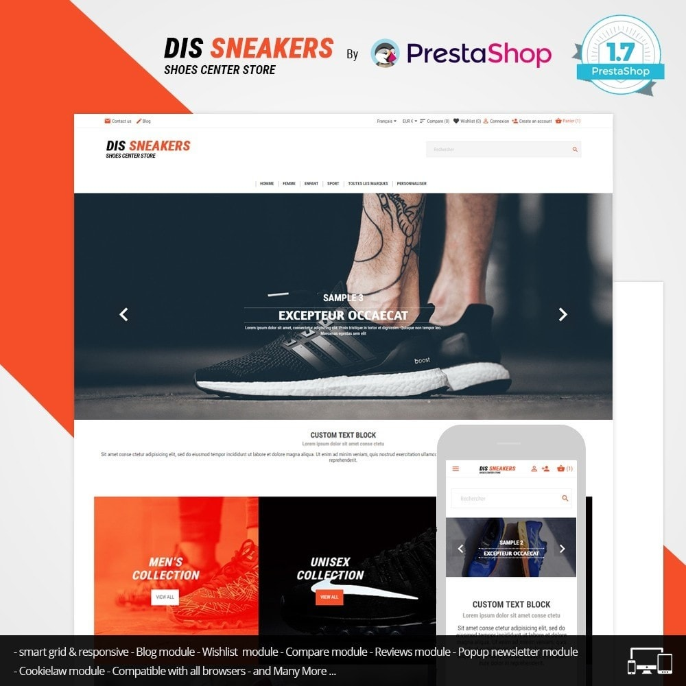 theme - Mode & Chaussures - Thème Dis Sneakers Store - 2