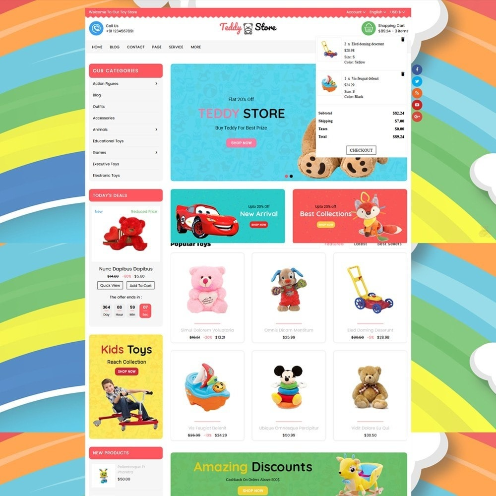 theme - Enfants & Jouets - Teddy Toy Store - 2