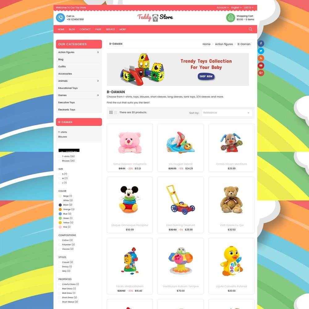 theme - Enfants & Jouets - Teddy Toy Store - 3