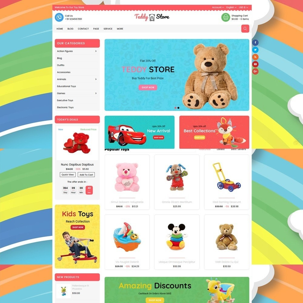 theme - Enfants & Jouets - Teddy Toy Store - 5