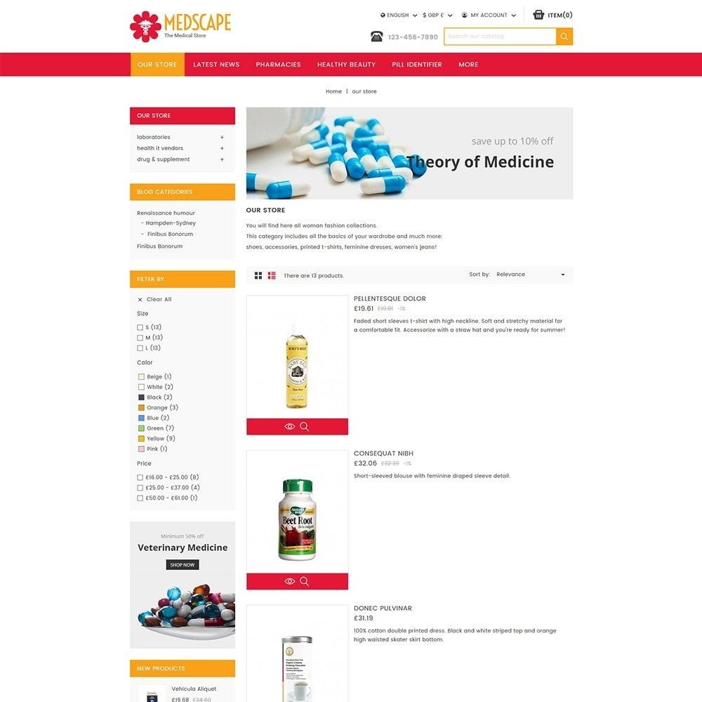theme - Salute & Bellezza - Medscape Medical Store - 5