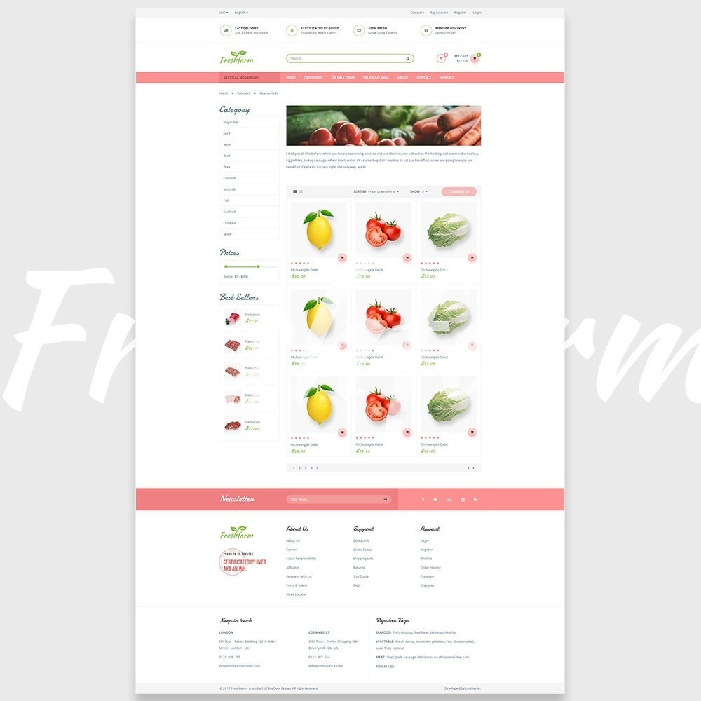 theme - Alimentation & Restauration - Leo Fresh Farm - 6