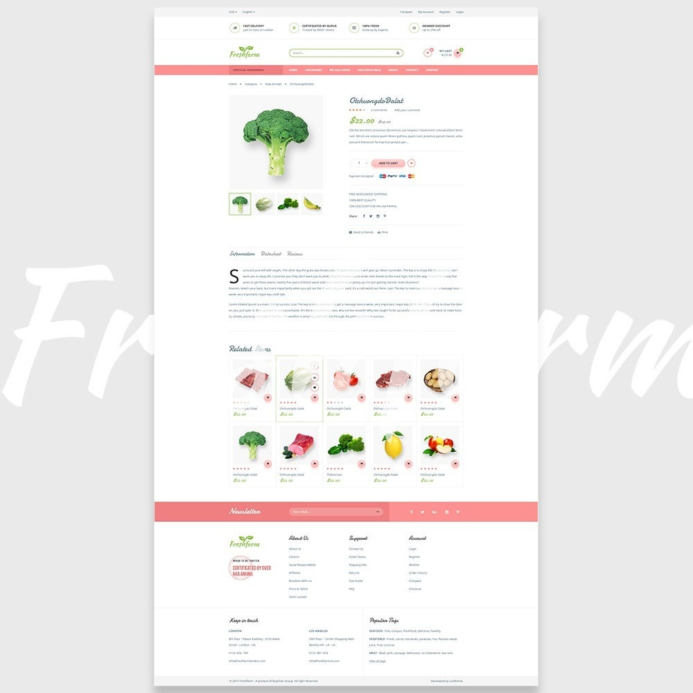 theme - Alimentation & Restauration - Leo Fresh Farm - 7