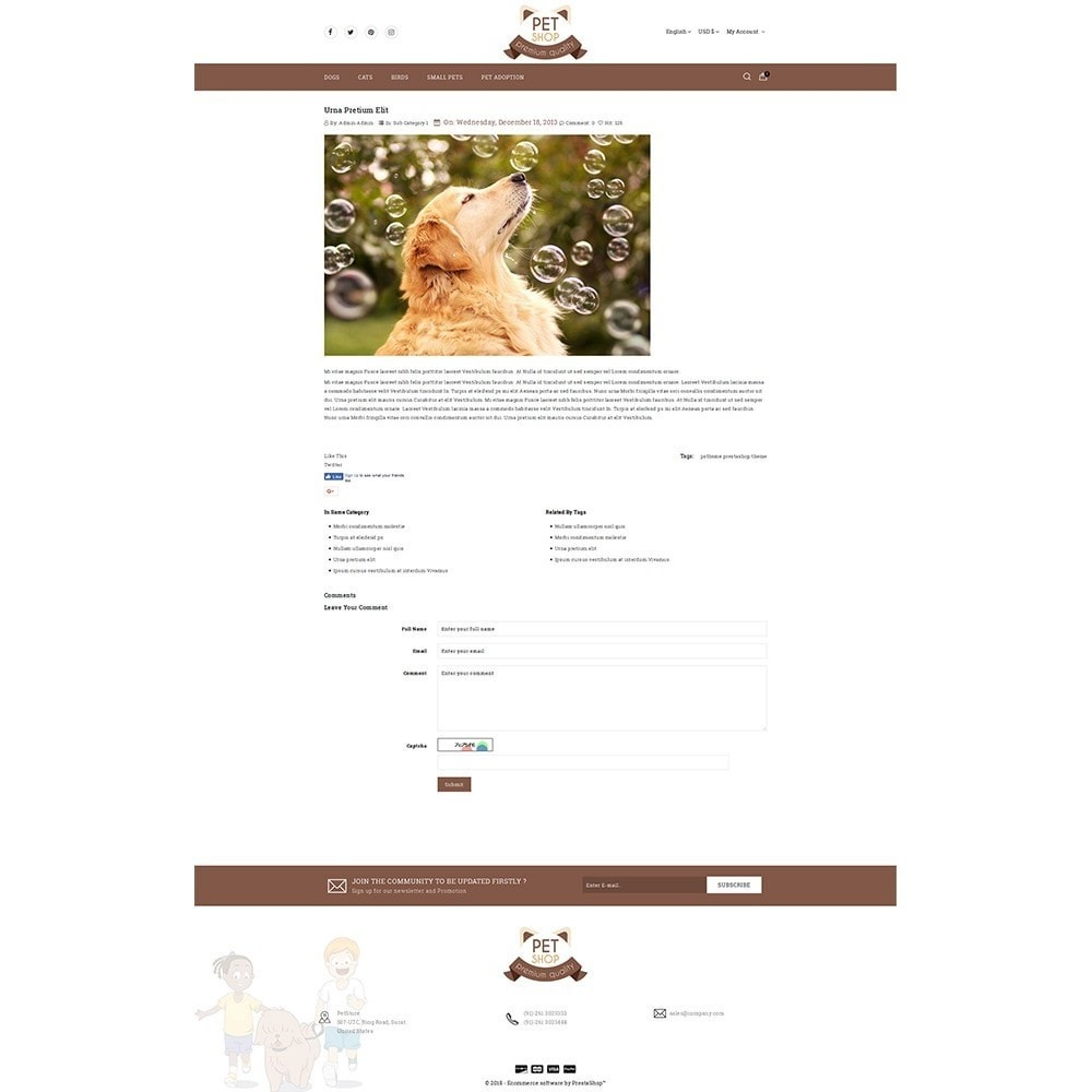 theme - Животные и домашние питомцы - Pet Store - 6