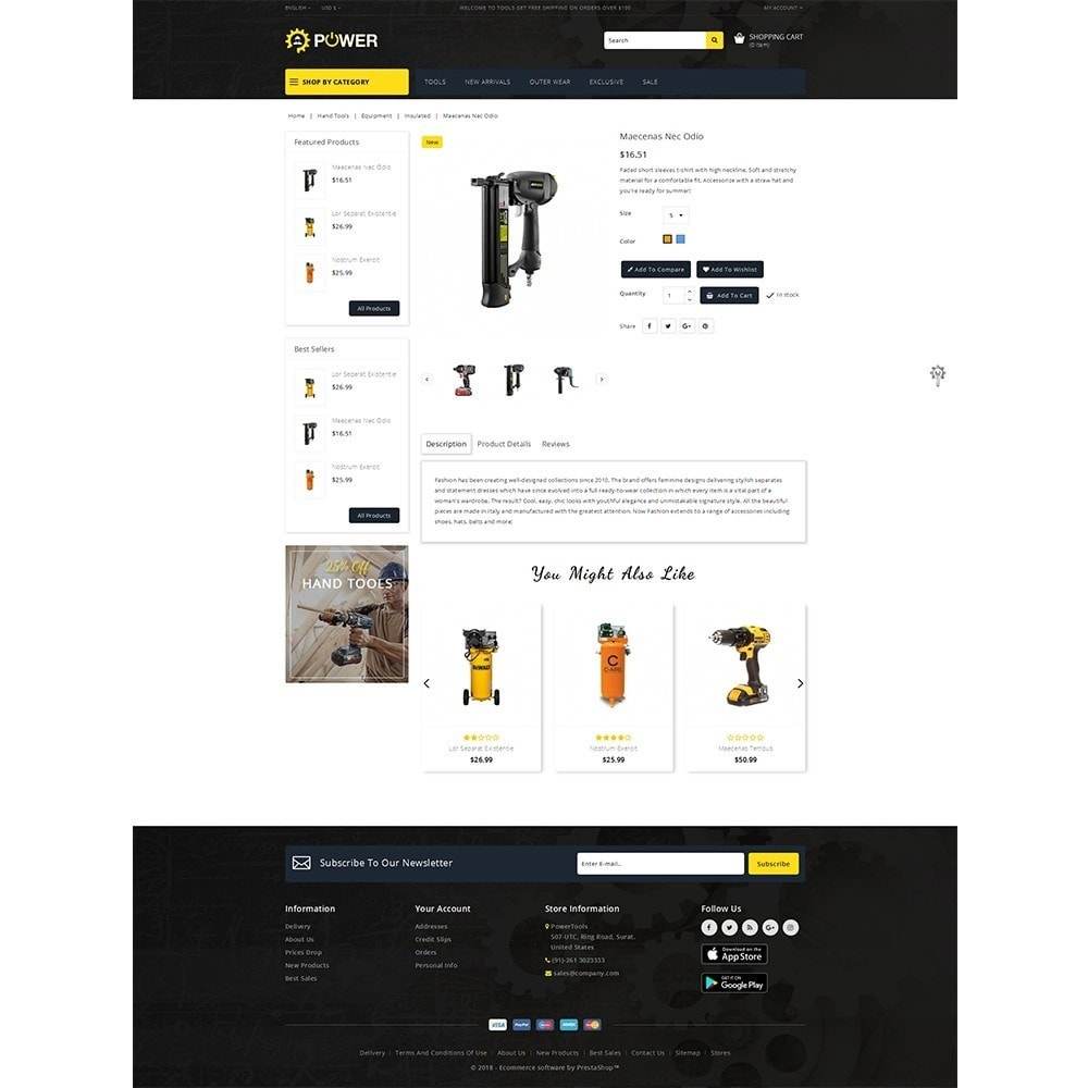 theme - Elettronica & High Tech - PowerTools Store - 5