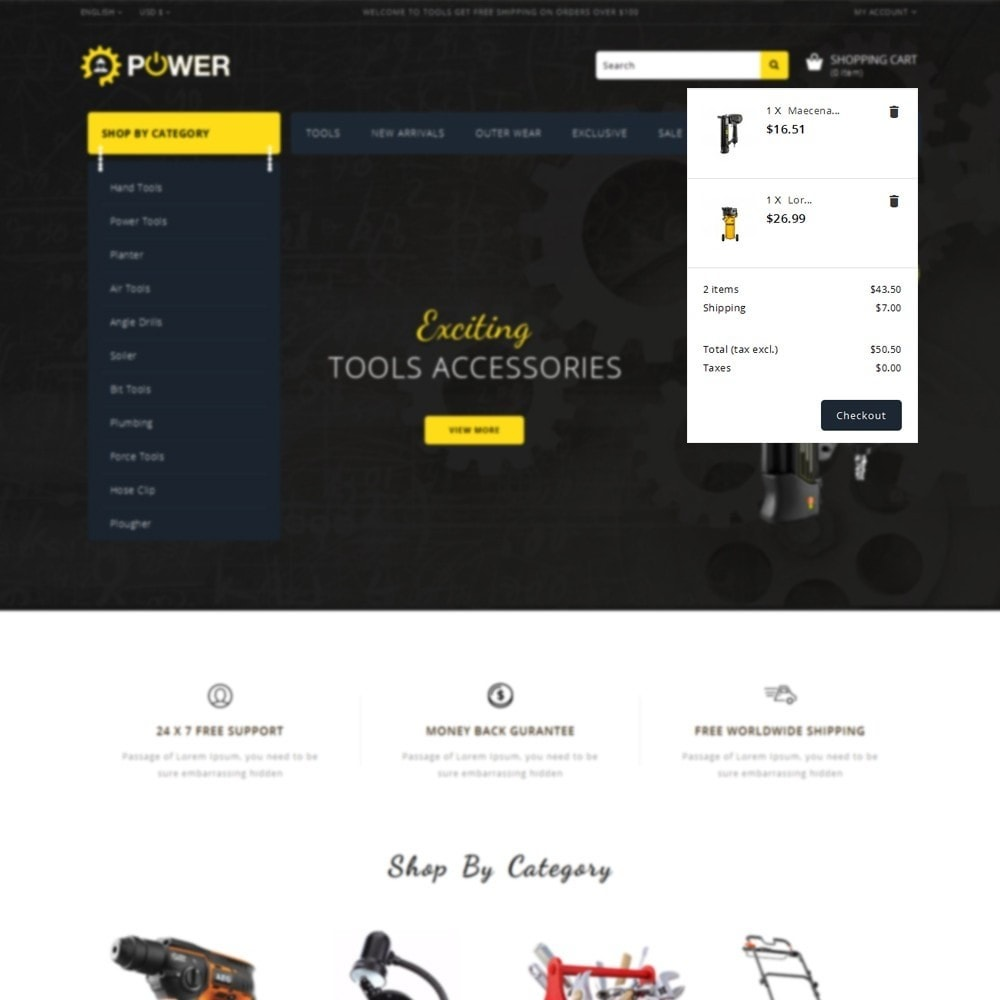 theme - Elettronica & High Tech - PowerTools Store - 8
