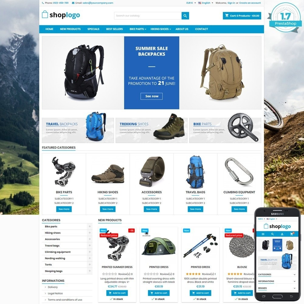theme - Sport, Aktivitäten & Reise - P17AT03 Bikes, sport and travel store - 1