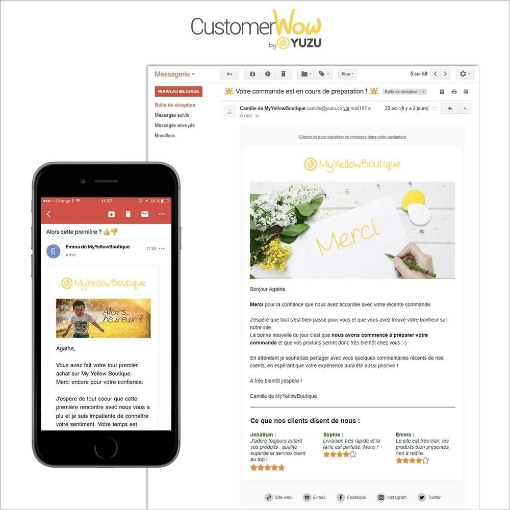 module - Remarketing & Warenkorbabbrüche - Yuzu Customer Wow - increase your customer value - 2