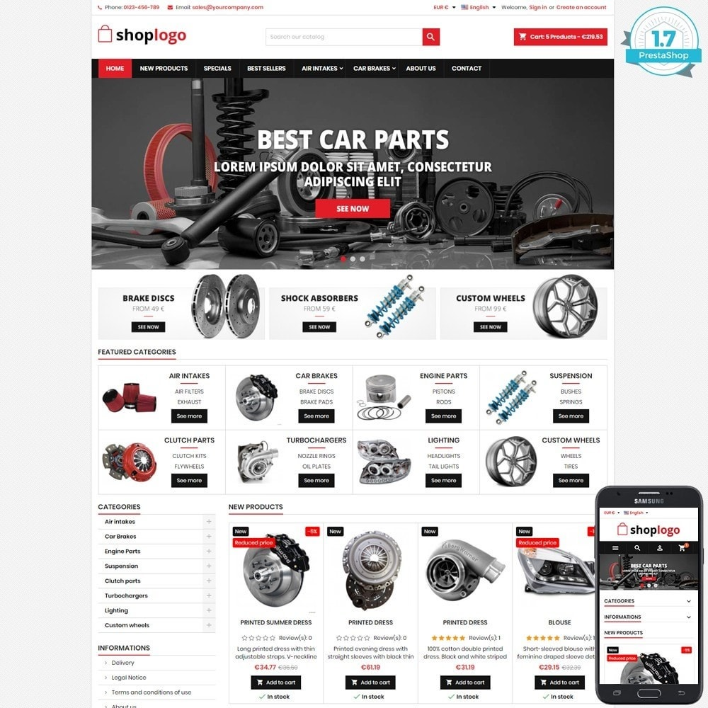 P17AT11 Car spare parts and tools